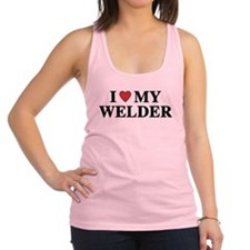 I Love My Welder Racerback Tank Top