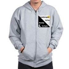 Landscaper by day Daddy by night Zip Hoodie
