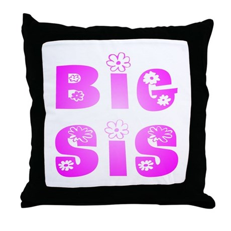 Big Sis Hippy Throw Pillow