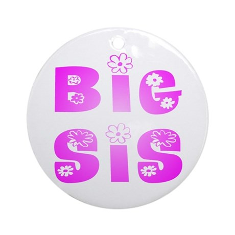Big Sis Hippy Ornament (Round)
