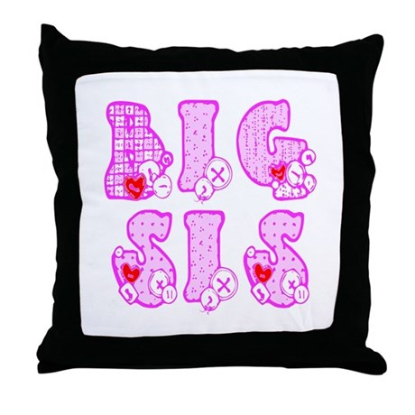 Big Sis Throw Pillow