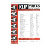 KLIF Playlist (1964) Postcards (Package of 8)