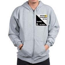 Number Cruncher by day Daddy by night Zip Hoodie