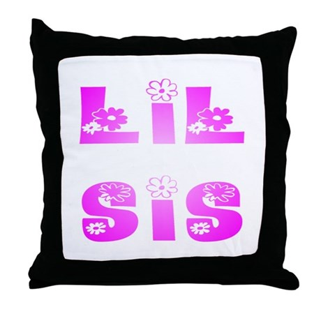 Lil Sis Hippy Throw Pillow