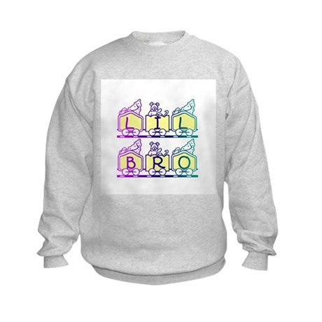 Lil Bro Train Kids Sweatshirt