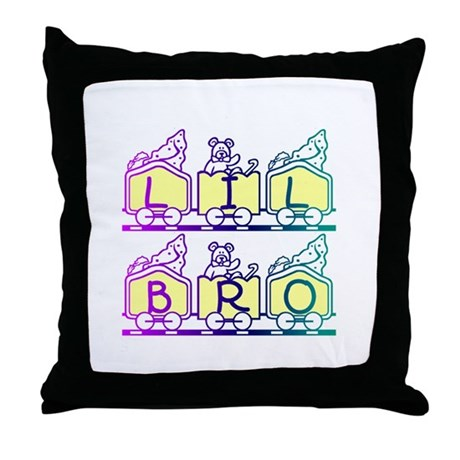 Lil Bro Train Throw Pillow