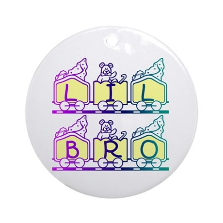Lil Bro Train Ornament (Round)