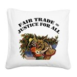 FIN-fair-trade-justice.png Square Canvas Pillow