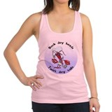 FIN-suck-heads-twist-tails.png Racerback Tank Top