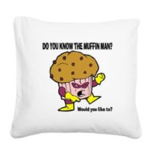 FIN-muffin-man.png Square Canvas Pillow