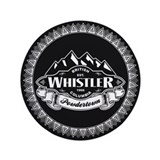 Whistler Mountain Emblem 3.5&quot; Button