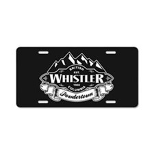 Whistler Mountain Emblem Aluminum License Plate
