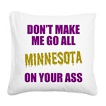 Minnesota Football Square Canvas Pillow