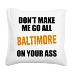 Baltimore Baseball Square Canvas Pillow