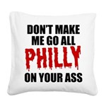 Philadelphia Baseball Square Canvas Pillow