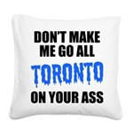 toronto-baseball-blue-black.png Square Canvas Pill