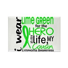 Hero in Life 2 Lymphoma Rectangle Magnet (10 pack)