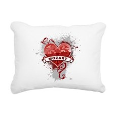 Heart Mozart Rectangular Canvas Pillow