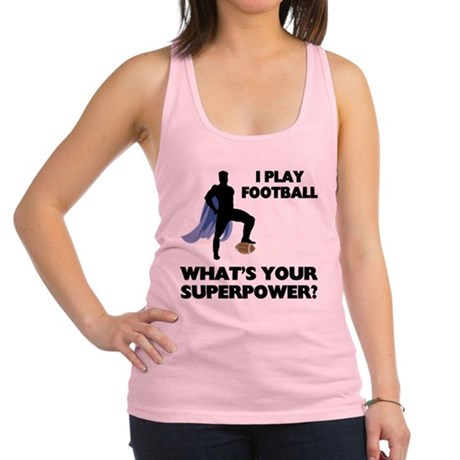 FIN-football-superpower.png Racerback Tank Top