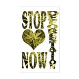 STOP DEFORESTATION NOW Rectangle Decal