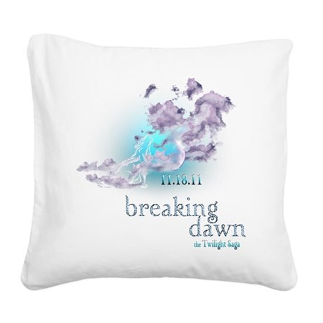 breaking dawn wolf clouds.png Square Canvas Pillow