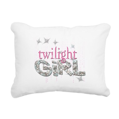 Twilight Girl Pink Rectangular Canvas Pillow
