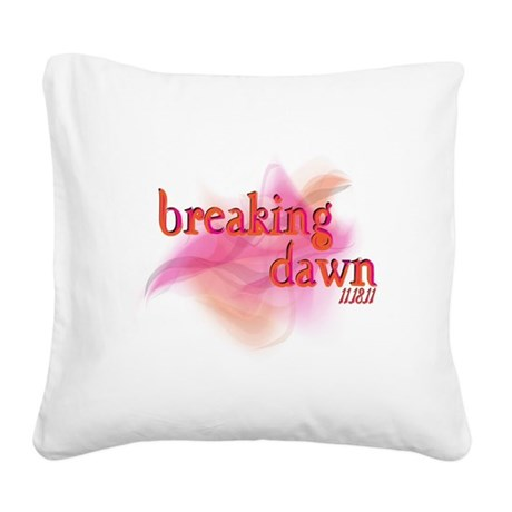 breaking dawn feathered.png Square Canvas Pillow