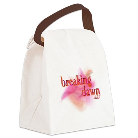 breaking dawn feathered.png Canvas Lunch Bag