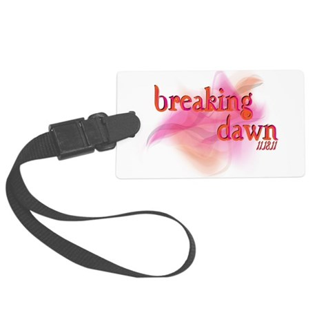 breaking dawn feathered.png Large Luggage Tag
