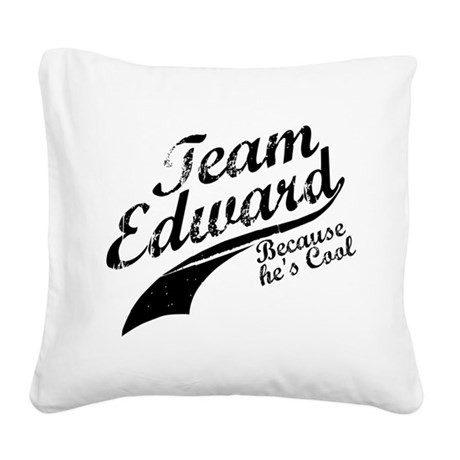 TeamEdward.png Square Canvas Pillow