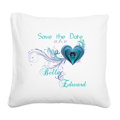 SavetheDate-shirts.png Square Canvas Pillow