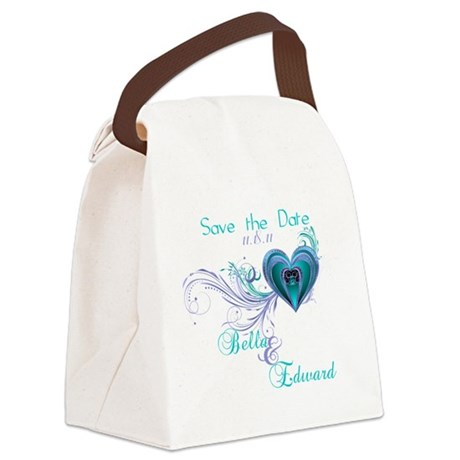 SavetheDate-shirts.png Canvas Lunch Bag