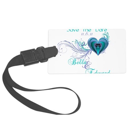 SavetheDate-shirts.png Large Luggage Tag