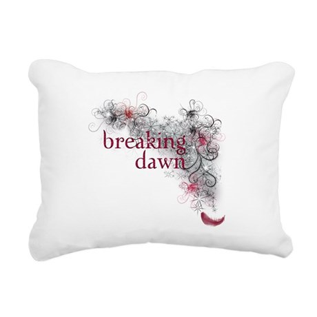 Breaking Dawn feather Rectangular Canvas Pillow