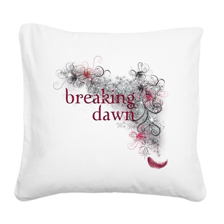 Breaking Dawn feather Square Canvas Pillow