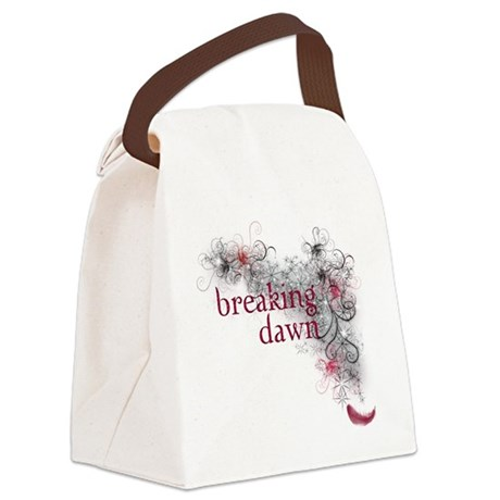 Breaking Dawn feather Canvas Lunch Bag