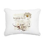 Breaking Dawn Floral Rectangular Canvas Pillow