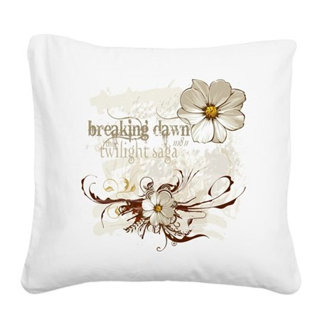 Breaking Dawn Floral Square Canvas Pillow