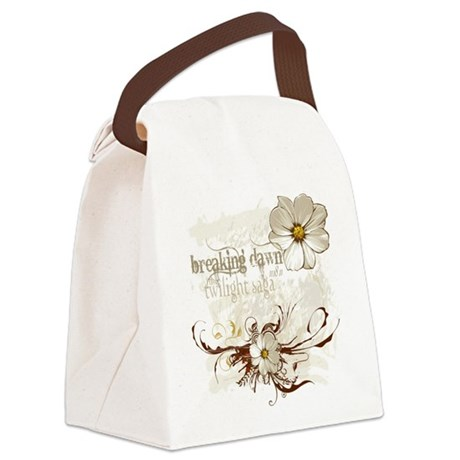 Breaking Dawn Floral Canvas Lunch Bag