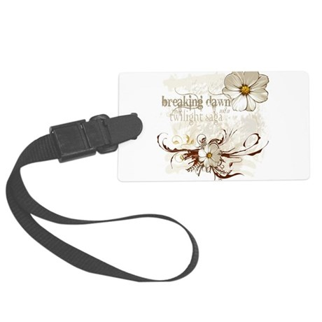 Breaking Dawn Floral Large Luggage Tag