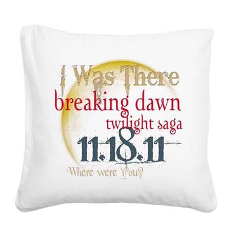 I was There.png Square Canvas Pillow