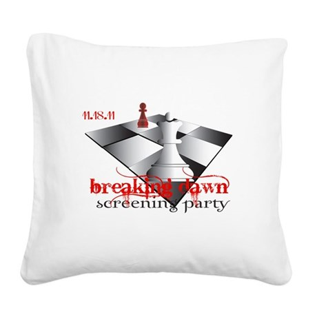 screeningparty 2b.png Square Canvas Pillow