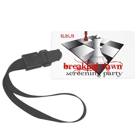 screeningparty 2b.png Large Luggage Tag