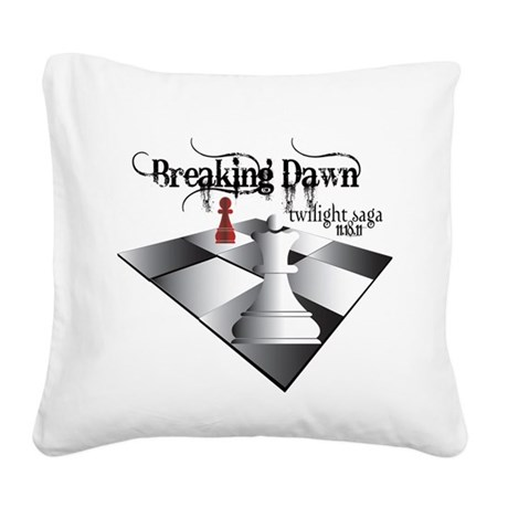 breaking dawn chess lt.png Square Canvas Pillow