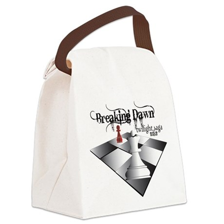 breaking dawn chess lt.png Canvas Lunch Bag