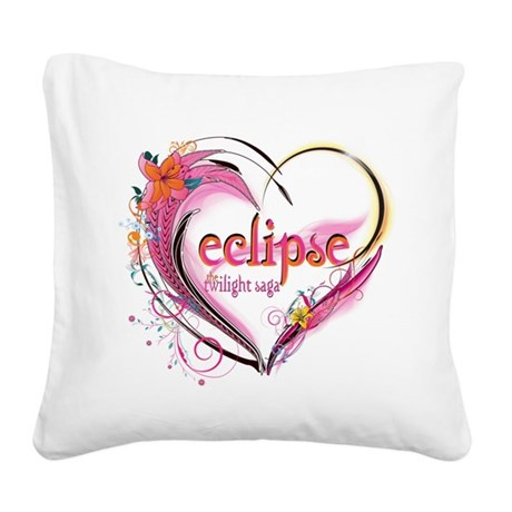 eclipse-heart.png Square Canvas Pillow