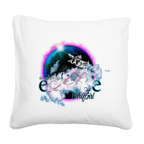 eclipseWolfGirl.png Square Canvas Pillow
