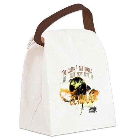 clouds cant fight eclipse2.png Canvas Lunch Bag