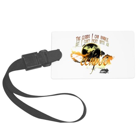 clouds cant fight eclipse2.png Large Luggage Tag
