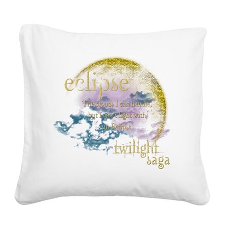 Eclipse Twilight.png Square Canvas Pillow